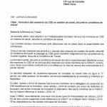 Formation de tous les membres du CSE en Santé, Sécurité et Conditions de Travail, l'UNSA écrit à la Ministre du Travail