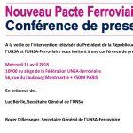 Conférence de presse de l'UNSA et l'UNSA Ferroviaire