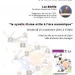 [UNSA] Déplacement à Dijon de Luc Bérille Secrétaire Général de l'UNSA