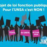 [UNSA] Mobilisation pour le 9 mai 2019 en Bourgogne-Franche-Comté !